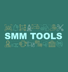smm tools word concepts banner vector image