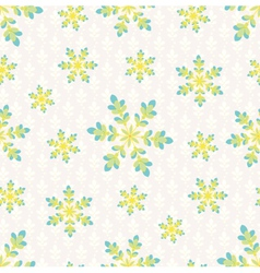 Snowfall in Spring vector image