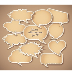 Speech bubbles cardboard set eps 10 vector