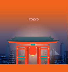 tokyo temple japan vector image