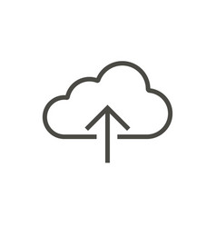 upload icon outline server line online cl vector image