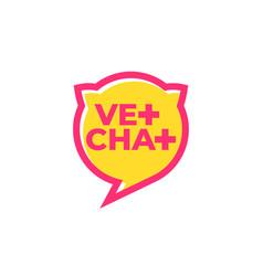 Vet chat icon veterinary doctor online logo vector