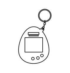 Video game mascot nineties line style vector