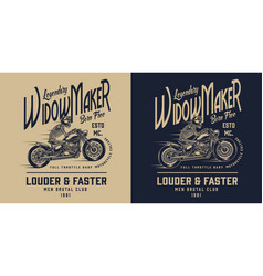 vintage motorcycle monochrome badge vector image