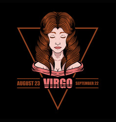 virgo zodiac ilustration vector image