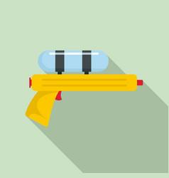 Water gun pistol icon flat style vector