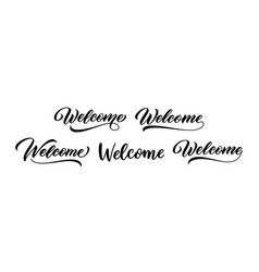 welcome sign set vector image