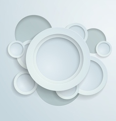 White Paper Circles Background vector