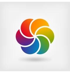 Colored abstract circle symbol vector image vector image