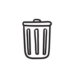 delete button sketch icon vector image vector image
