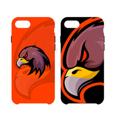 Furious eagle head sport logo concept smart vector