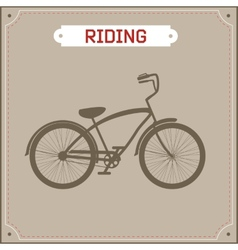 Hipster bike retro vector image vector image