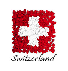 love switzerland flag heart glossy with love vector image