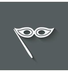Masquerade mask symbol vector image vector image