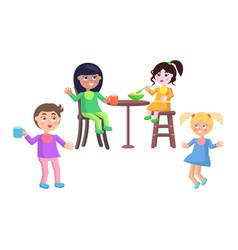 set of children characters happy mother day set vector image vector image