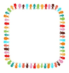 Small and smile kids playing and dancing vector image