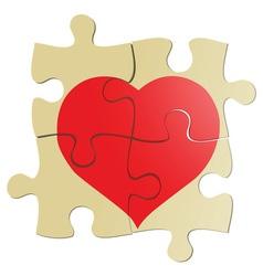Valentine puzzle vector image vector image