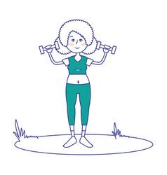 women fitness cartoon vector image