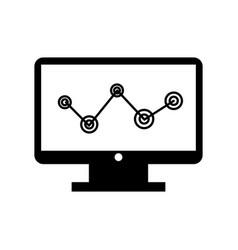 computer desktop with statistics vector image