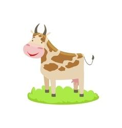 Cow Farm Animal Cartoon Farm Related Element On vector image vector image