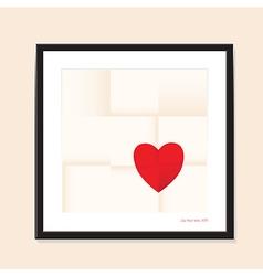 heart paper vector image vector image