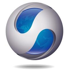 ico ball blue vector image vector image