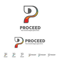 p letter for brand identity vector image