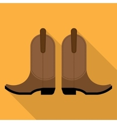 pair of cowboy boots vector image