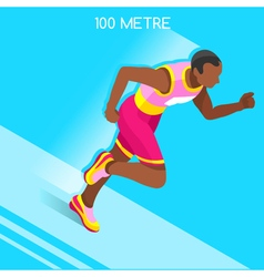 Running 2016 Summer Games 3D Isometric vector image vector image
