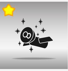 satellite black icon button logo symbol vector image vector image
