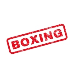 Boxing Text Rubber Stamp vector image vector image