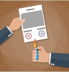 Contract termination concept vector