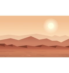 Silhouette of mountain at sunset vector image vector image