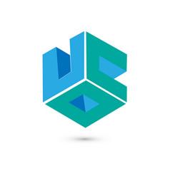 cube logo concept flat vector image vector image