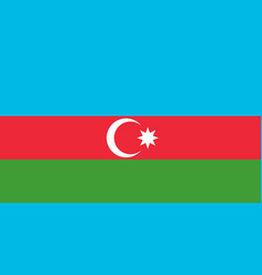 flag in colors of azerbaijan image vector image vector image