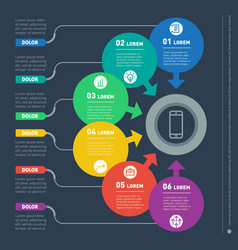 infographic of technology or education process vector image