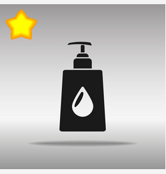 liquid soap black icon button logo symbol vector image vector image