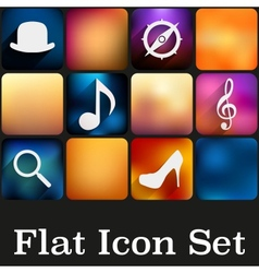 Simple flat icons with trendy colors vector image
