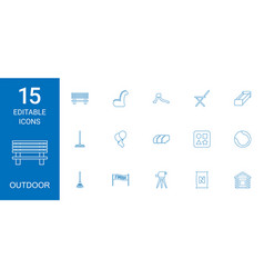 15 outdoor icons vector