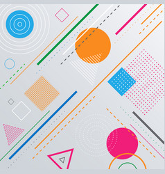 abstract geometric pattern background with shapes vector image