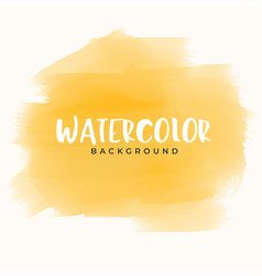 Abstract yellow hand painter watercolor texture vector