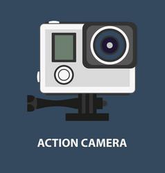 Action camera logo camera for active sports vector