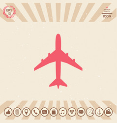 airplane icon symbol vector image
