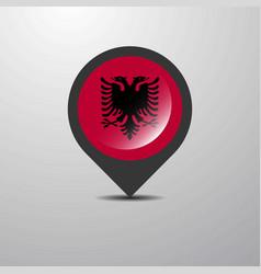 Albania map pin vector