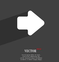 Arrow right Next icon symbol Flat modern web vector image