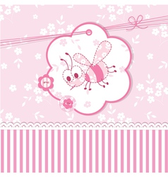 Baby shower with bee vector image