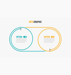Business infographics thin line with 2 options vector