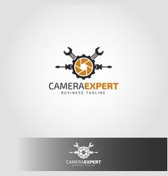 Camera expert - camera service logo vector