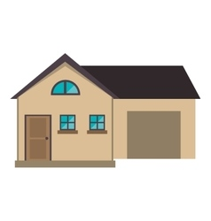 cartoon house modern style with garage vector image