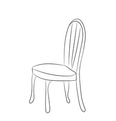 chair stands lines vector image